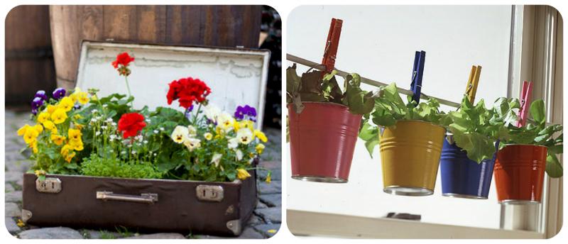 Ideias diferentes e criativas para decorar o seu jardim com florzinhas.