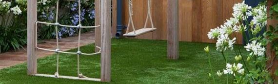 Jardim de grama artificial para crianças