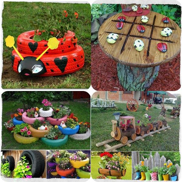 jardim com grama sintética para crianças