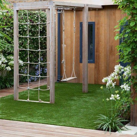 jardim de grama sintética para crianças