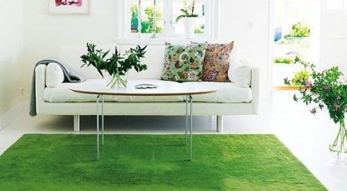 tapete de grama artificial na decoração