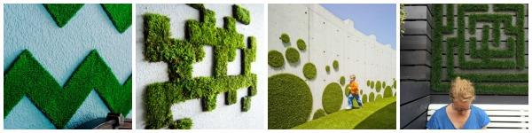 Grama sintética na parede - Decoração com criatividade
