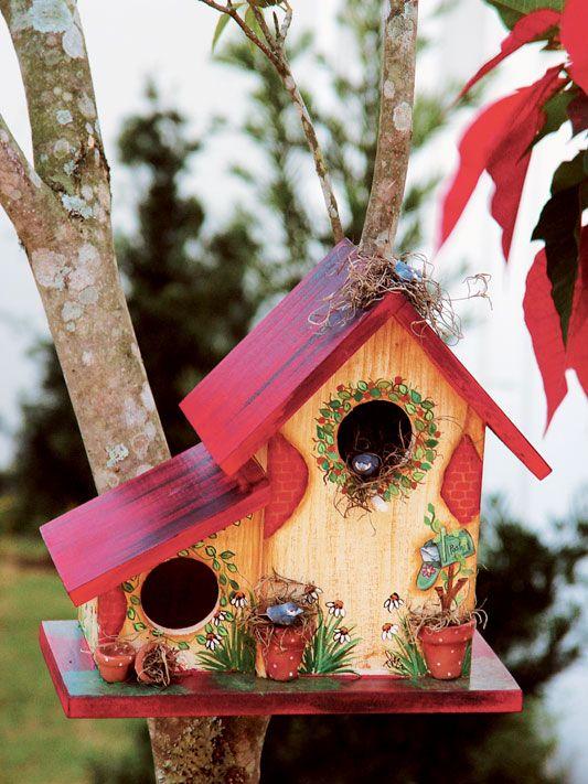 casa de passarinho para jardim