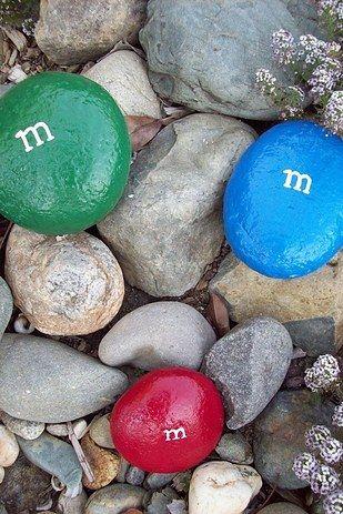 customizar pedras para a decoração do jardim