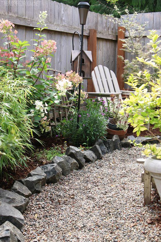 pedras na decoração do jardim