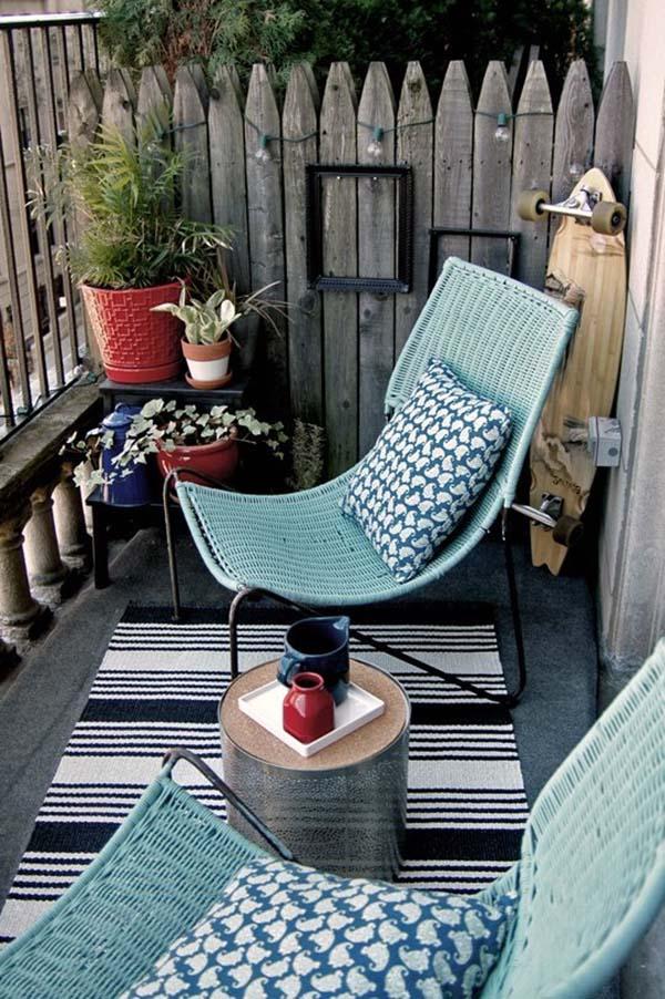 jardim artificial confortável