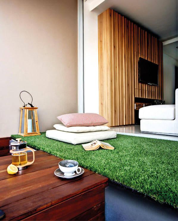 cama de grama sintética
