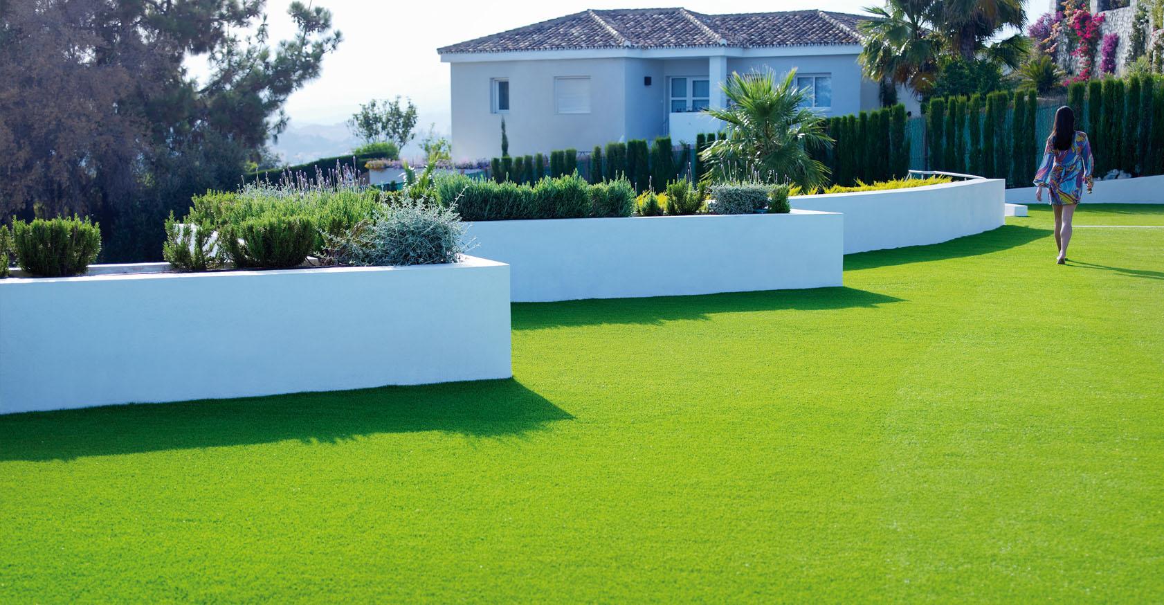 jardim com a melhor grama