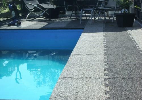 Piso emborrachado para piscina