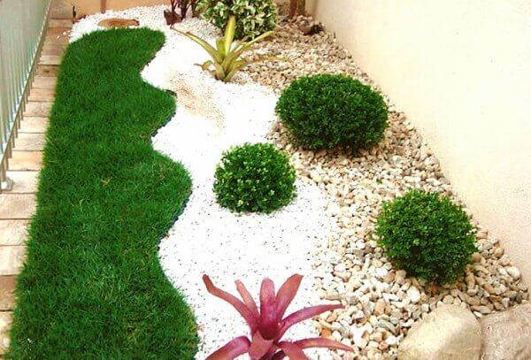 grama sintética para jardins pequenos