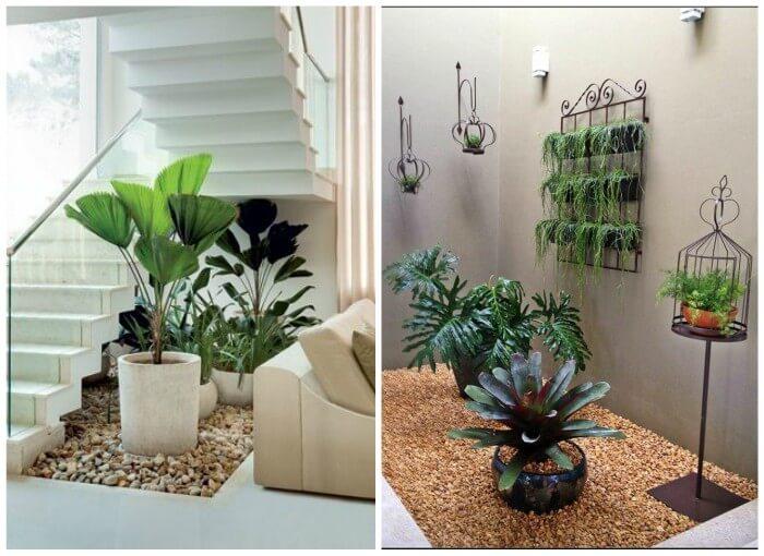 jardim pequeno debaixo da escada