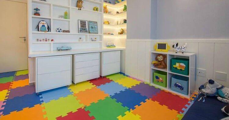 quarto infantil com piso de eva