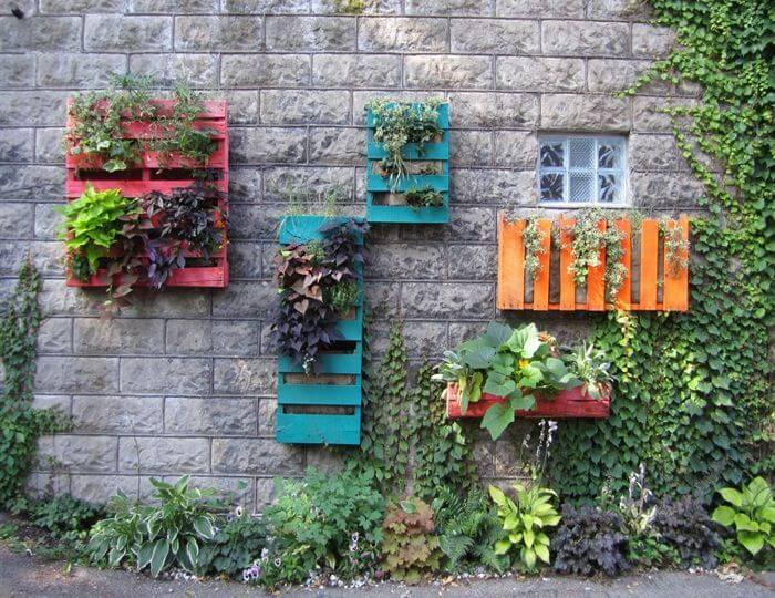 jardim vertical do lado de fora da casa
