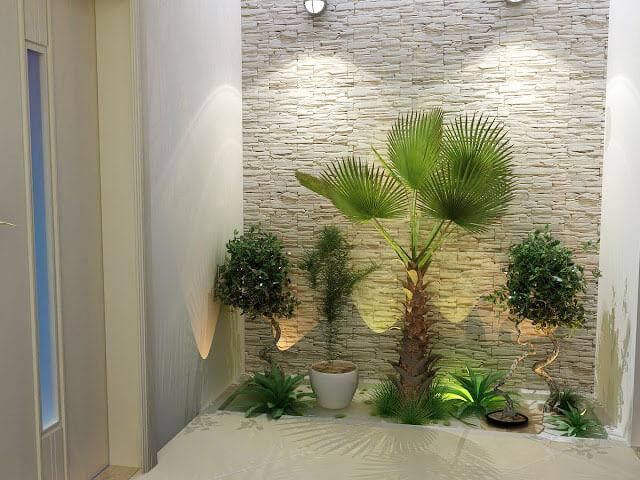 jardim interno pequeno decorado