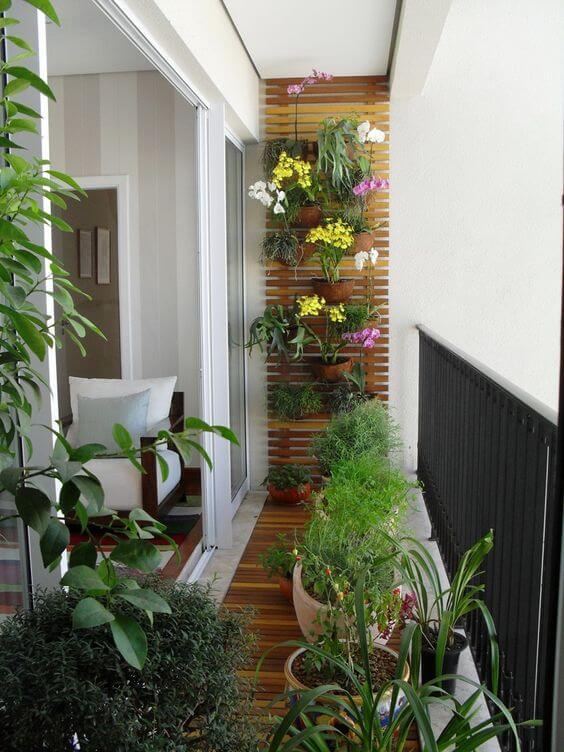 jardim de inverno no corredor