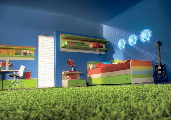 tapete de grama artificial para quarto de criança