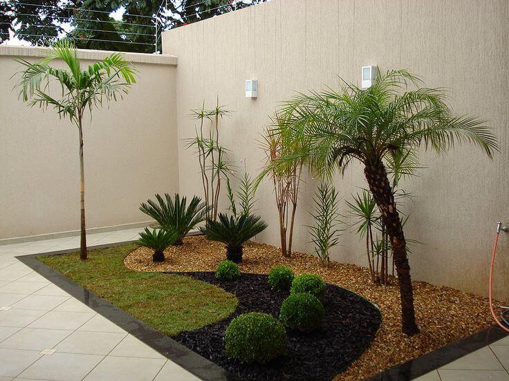 jardim de canto de muro no jardim