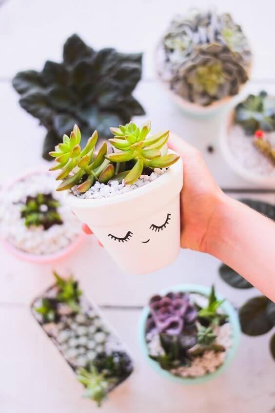 vasos decorado para plantas pequenas