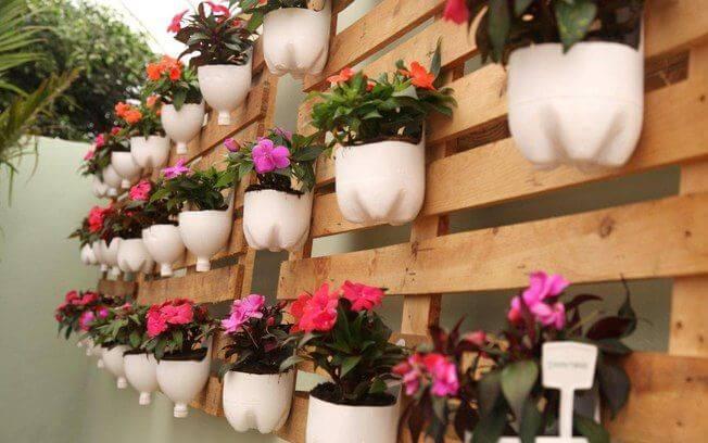 jardim vertical reciclado
