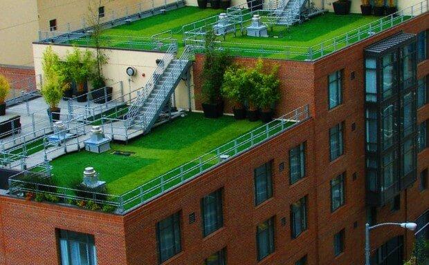 terraco com telhado verde