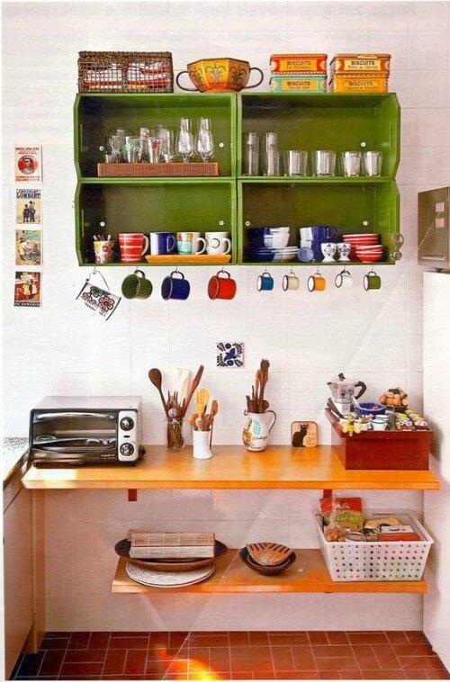 armário de caixote verde