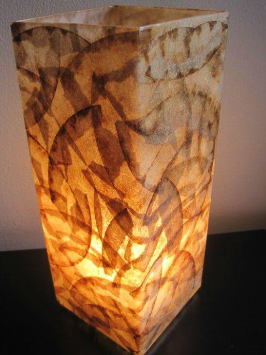 Luminária ganha nova cara após a decoração