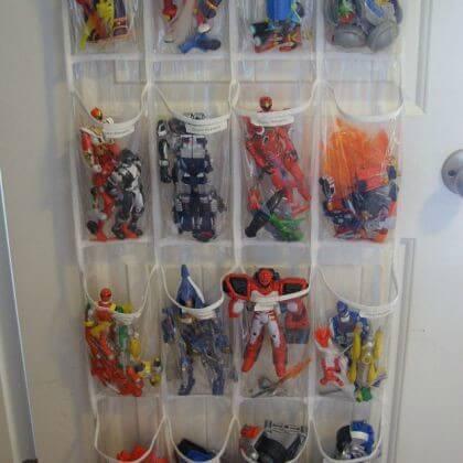 Saquinhos organizadores de brinquedos