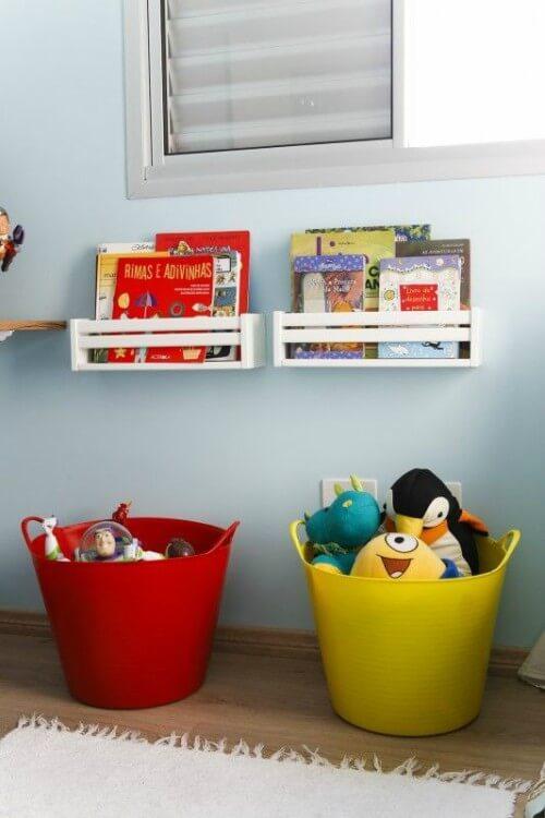 Caixas organizadoras de brinquedos