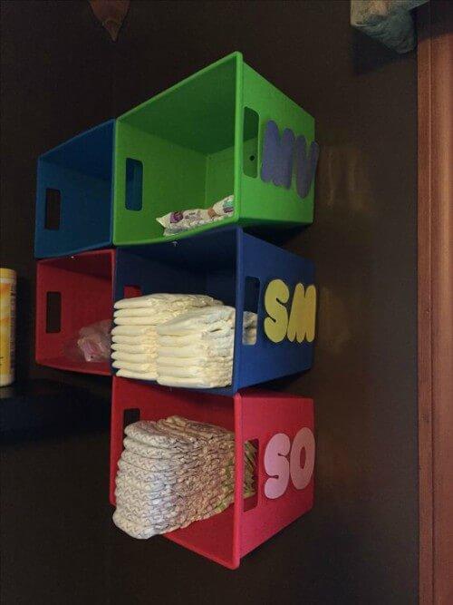 Nichos organizadores em berçário de creche