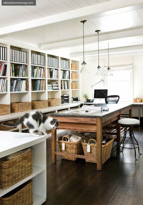 escritorio iluminado