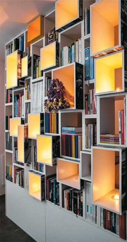 luminarias de prateleira para escritorios