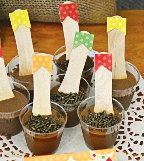Docinhos de chocolate para festa junina
