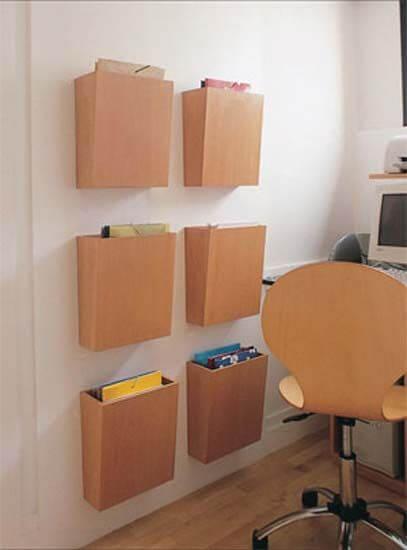 caixa de arquivos de parede
