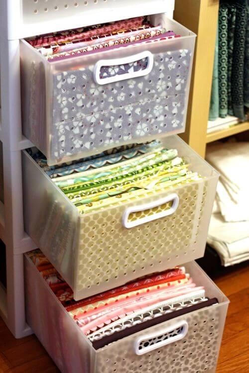 gavetas para organizar arquivos