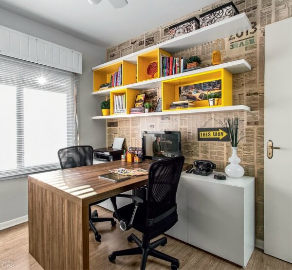 Escritório em espaço pequeno