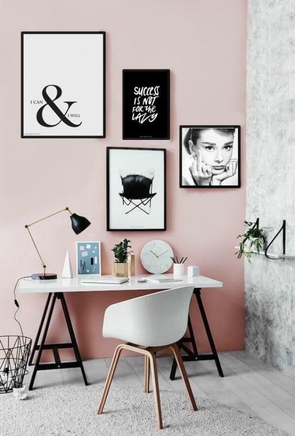 Quadros decorativos em home office