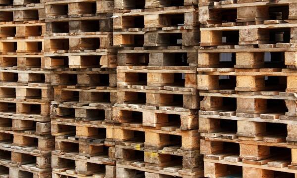 parede de pallets