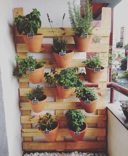 Jardim vertical fácil de montar