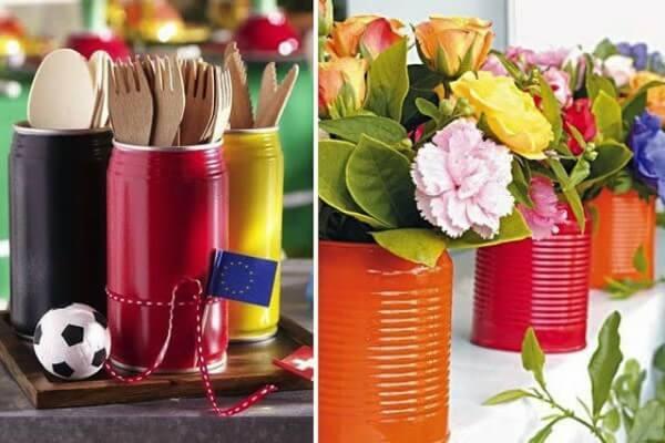latas para guardar utensilios na cozinha