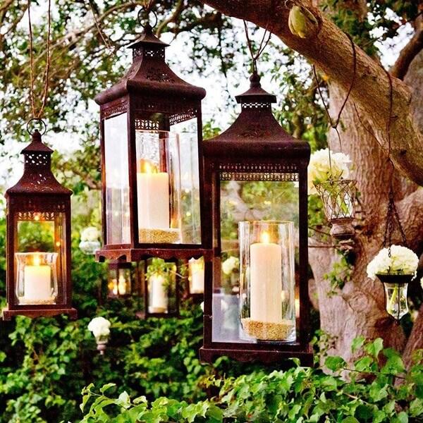 Lanternas para jardim de inverno