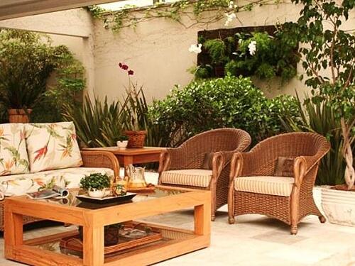 jardim de inverno com mobilias