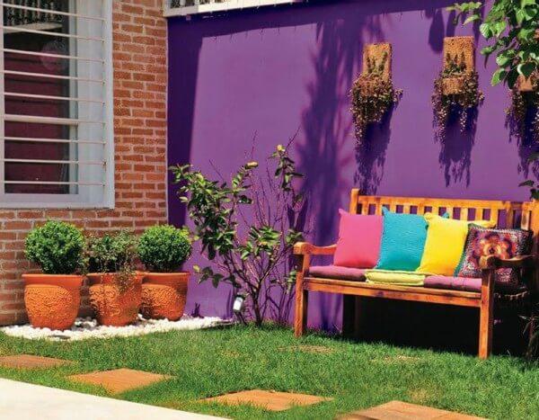 como decorar colorido  um jardim pequeno