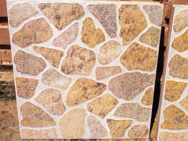 Piso de cerâmica que imita pedras