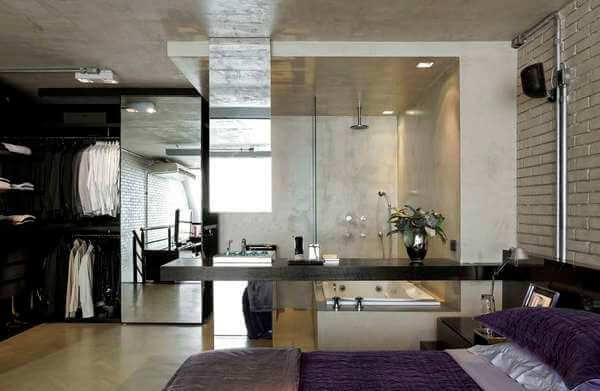 Quarto Closet com Banheiro