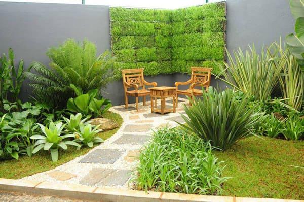 Jardim artificial externo