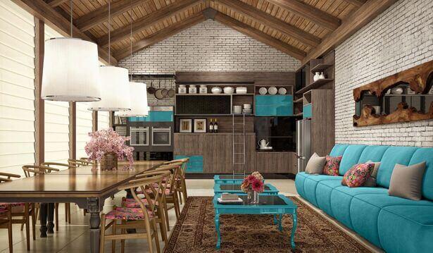 Área gourmet interna em casa