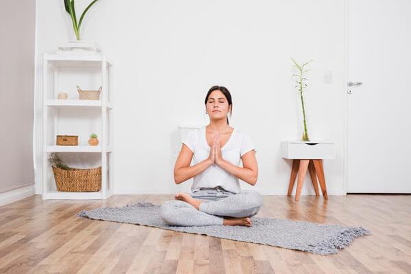 Espaço para meditar em casa