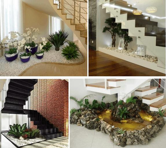 Jardins embaixo da escada